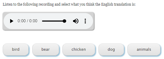 multi-choice quiz type question