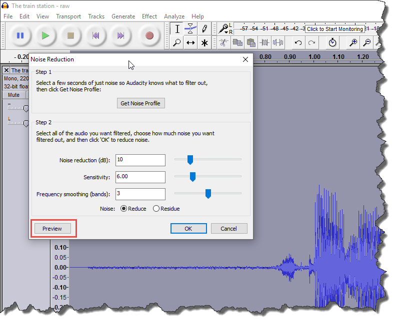 Advanced Audacity noise reduction | Lingopolo