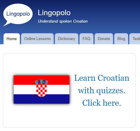 Croatian home page
