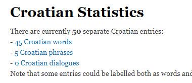 Croatian statistics