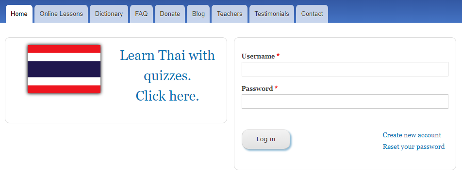 Thai login page (new design)