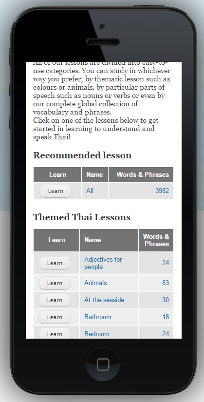 iPhone 5 online lessons page