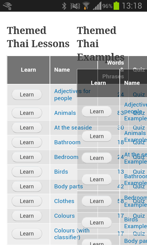 Online lessons overlapping on mobile