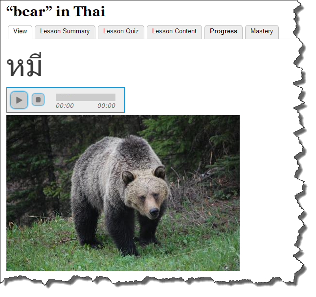 "photo on ""bear"" page"